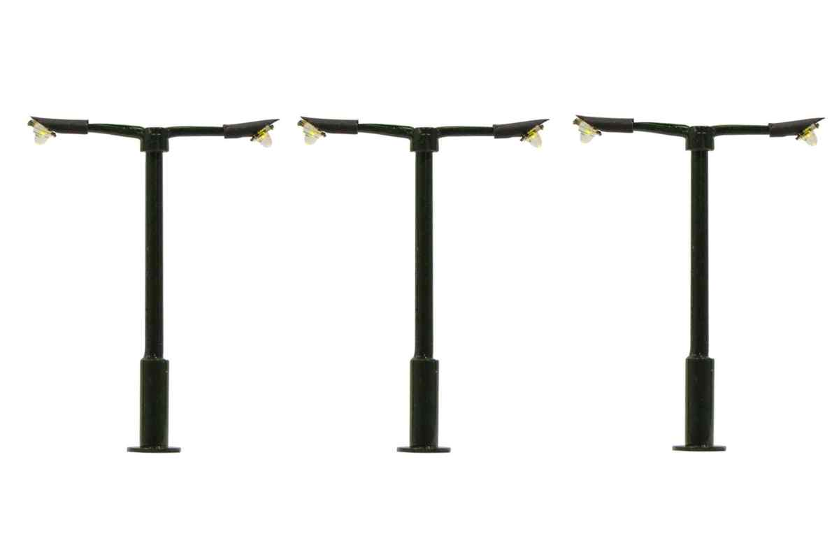 00 Gauge Modern Straight Double Arm Street Light