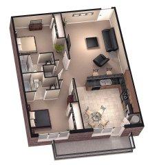 Excellent 3d Floorplan Design Model Rendering