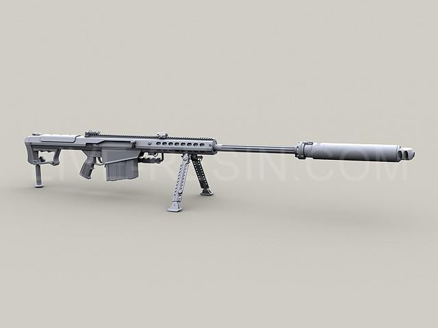 Barrett M107A1 .50 Caliber LRSR and Barrett M107A1 .50 Caliber LRSR CQB with quick-attach Barrett QDL Suppressor