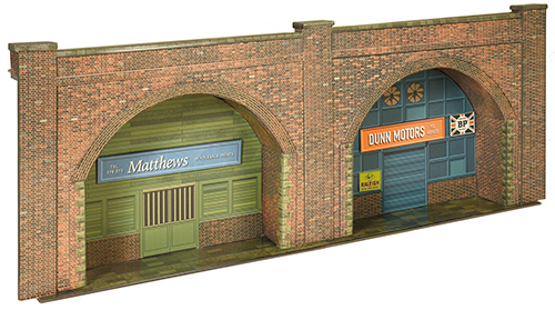 Superquick C8.0 Embankment Arches (Red Brick) (OO scale card kit)