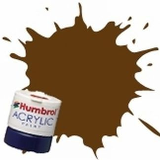 Humbrol 10 Service Brown Gloss - Acrylic Paint 14ml