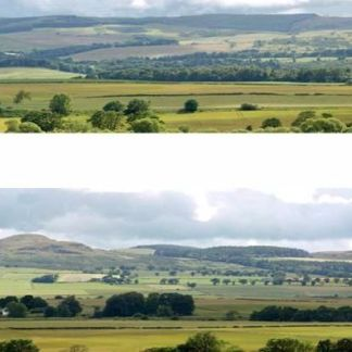"Art Printers P208B Hills and Dales Premium Photographic Backscene 10' long 9"" tall"