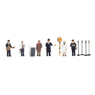 Bachmann 36-416 1960/70s Urban Workers (6 figures OO gauge)