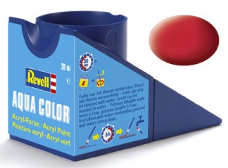 Revell 36136 Acrylic Paint 'Aqua' 18ml Solid Matt Carmine Red RAL3002