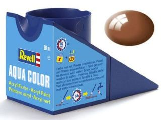 Revell 36180 Acrylic Paint 'Aqua' 18ml Solid Matt Mud Brown (RAL 8003)