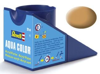 Revell 36188 Acrylic Paint 'Aqua' 18ml Solid Matt Ochre Brown (RAL 1011)