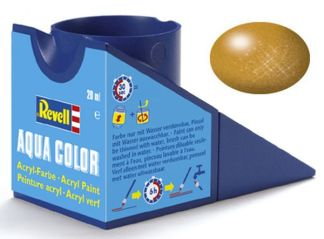 Revell 36192 Acrylic Paint 'Aqua' 18ml Solid Metallic Brass