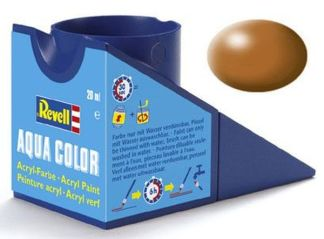 Revell 36382 Acrylic Paint 'Aqua' 18ml Solid Silk Matt Wood Brown