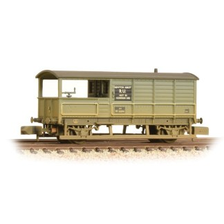 Graham Farish 377-376A 20 Ton Toad Brake Van - BR Grey Weathered (N gauge)