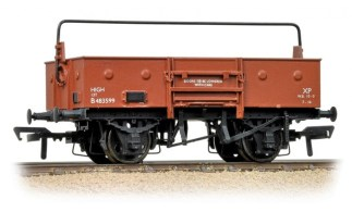 Bachmann 38-450A 13 Ton Open Wagon with Sheet Rail Highbar BR Bauxite (Early) (OO gauge)
