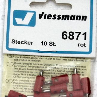 Viessmann 6871 Plugs - Red (x10) (equivalent to Marklin 7135)
