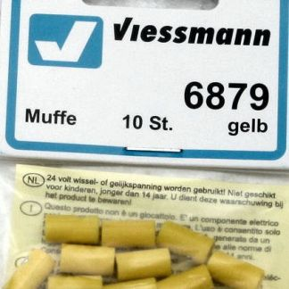 Viessmann 6879 Sockets - Yellow (x10) (equivalent to Marklin 7112)