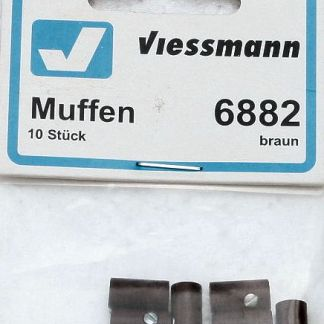 Viessmann 6882 Sockets - Brown (x10) (equivalent to Marklin 7111)