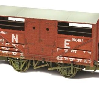 Oxford Rail 76CAT003W Cattle Wagon Lime Washed LNER 196152 (OO gauge)