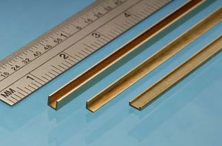 Albion Alloys A4 Brass Angle 4mm x 4mm x 305mm (1 piece)