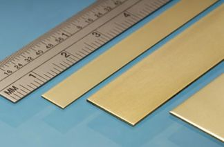 Albion Alloys BS2M Brass Strip 12mm x 0.4mm x 305mm (4 pieces)