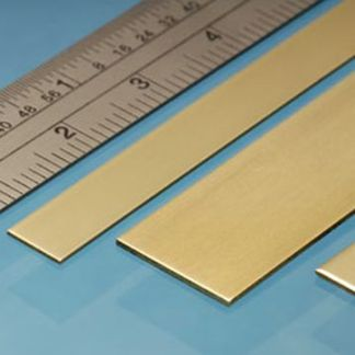 Albion Alloys BS8M Brass Strip 12mm x 0.8mm x 305mm (3 pieces)