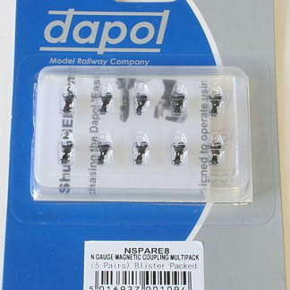 Dapol 2A-000-008 N Gauge Easi-Fit Magnetic Couplings Medium Arm Multi-pack (5 Pairs)