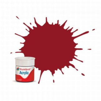 Humbrol 20 Crimson Gloss - Acrylic Paint 14ml