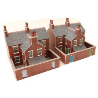 Metcalfe PN103 N Scale Terrace Houses in Brick (N scale card kit)