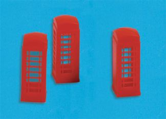 Model Scene 5190 Telephone Boxes (x3) (N scale)