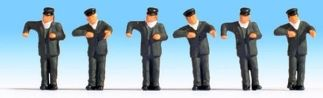 Noch 15281 Steam Locomotive Drivers (6 figures HO scale)