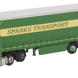 Oxford NMB006 Mercedes Actros Curtainside - Sparks (N gauge)