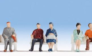 Noch 18130 Hobby Series - Seated People (6 figures HO/OO gauge)