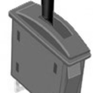 Peco PL-26B Passing Contact Switch for Point Motors - Black