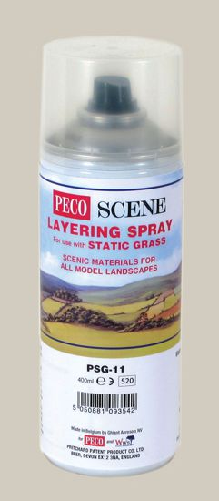 Peco PSG-11 Static Grass Layering Spray (400ml) ** Collection Only **