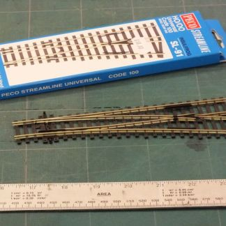 Peco SL-91  Code 100 Insulfrog Small Radius Right Hand Point (OO gauge)