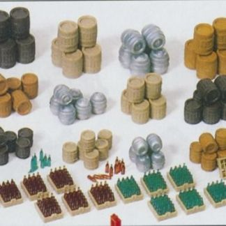 Preiser 17105 Beer Barrels, Crates, etc. (OO/HO scale)