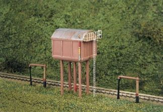 Ratio 215 Square Water Tower Kit (N gauge plastic kit)