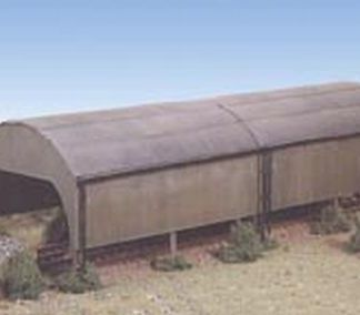 Ratio 231 Two Road Carriage Shed (N gauge kit)