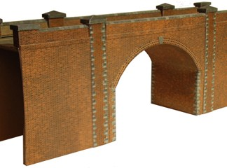 Superquick A14 Red Brick Bridge/Tunnel (OO scale card kit)