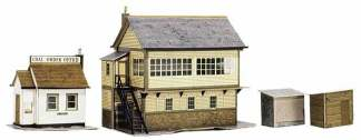 Superquick A6 Signal Box and Coal Order Shed (OO scale card kit)