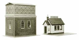 Superquick A8 Water Tower and Weighbridge (OO scale card kit)