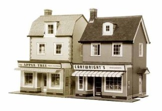 Superquick B22 Two Country Town Shops (OO scale card kit)