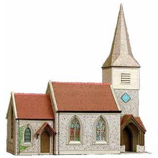 Superquick B29 The Country Church (OO card kit)