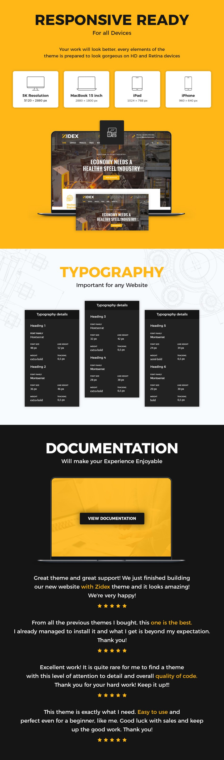 Zidex - WordPress industrial and factory theme - 10