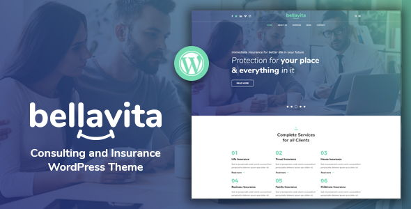 Bellavita – Insurance & Finance WordPress Theme