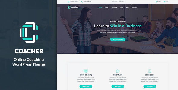 Coacher – Training & Coaching WordPress Theme