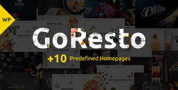 GoResto – Restaurant Food Delivery Theme