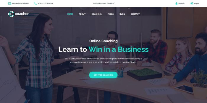 Coacher – Best Coaching, Instructor WordPress Theme