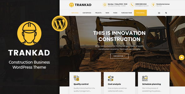 Trankad – Construction WordPress Theme