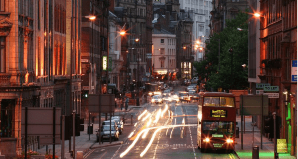 The pattern of electricity use during the night helps predict traffic congestions in the morning.
