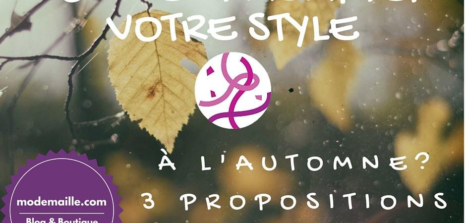 Suggestions de tenues pour un automne stylé en pulls et vestes tricotés.