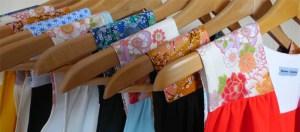 Créations de Mme Chabada avec les tissus japonais