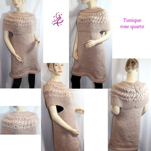 Vous cherchez un souffle de douceur pour illuminer et réchauffer un basique à manches longues? Alors la tunique Rose Quartz est pour vous!