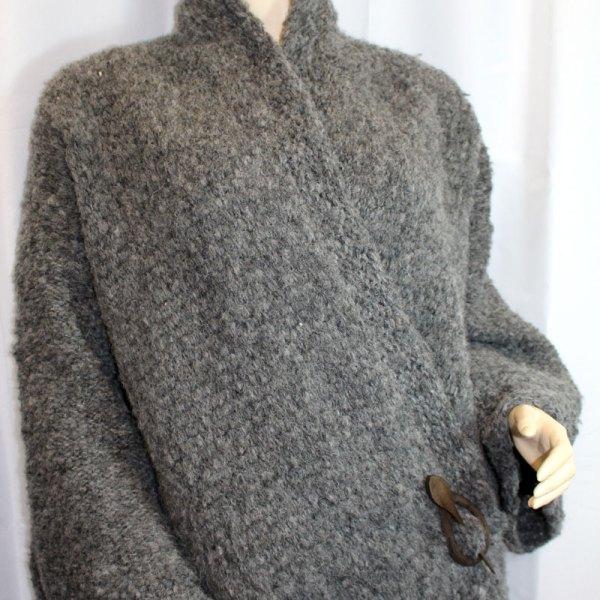 Veste Kimono gris foncé